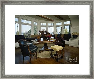Elegant Sitting Room Framed Print by Robert Pisano