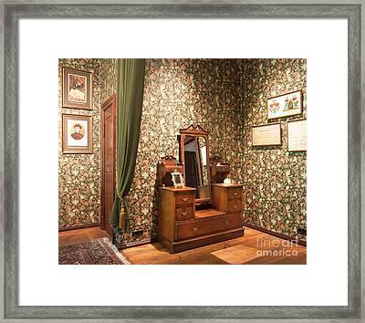Elegant Vanity Dresser In Alatskivi Castle Framed Print by Jaak Nilson