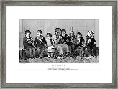 Elementary School Framed Print by Granger