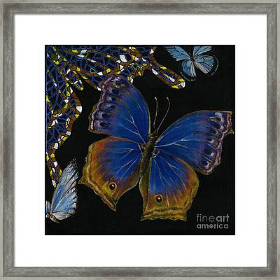 Elena Yakubovich - Butterfly 2x2 Lower Right Corner Framed Print by Elena Yakubovich