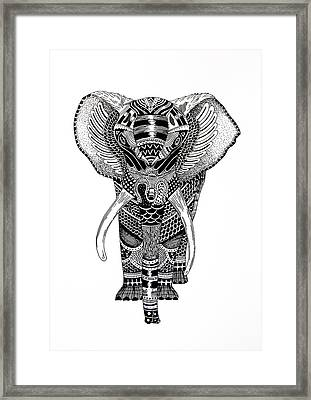 Elephant Framed Print by JF Mondello