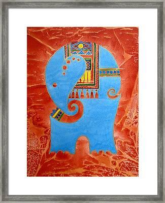 Elephant Framed Print by Khromykh Natalia