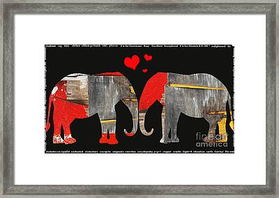 Elephant Love Kids Licensing Art Framed Print by Anahi DeCanio