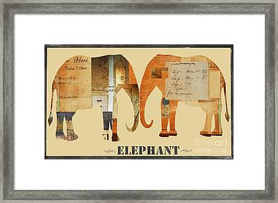 Elephants Juvenile Licensing Art Framed Print by Anahi DeCanio
