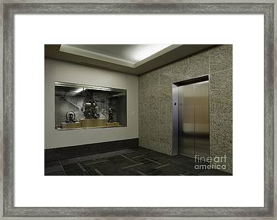 Elevator Framed Print by Robert Pisano