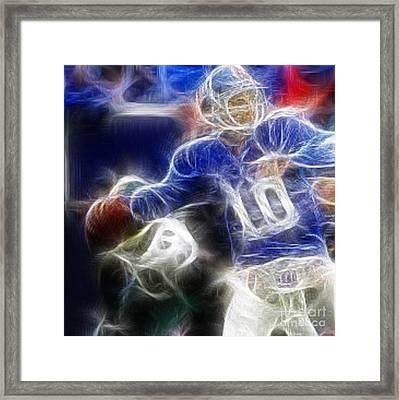 Eli Manning Ny Giants Framed Print by Paul Ward