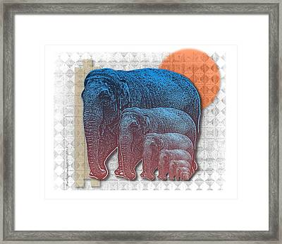 Elifents Framed Print by Mimulux patricia no