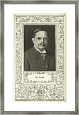 Elihu Thomson (1853-1937), American Engineer Framed Print by Science, Industry & Business Librarynew York Public Library