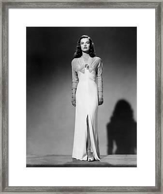 Ella Raines, 1944 Framed Print by Everett