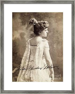 Ella Wheeler Wilcox Framed Print by Granger
