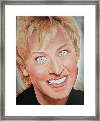 Ellen Degeneres Framed Print by Timothe Winstead