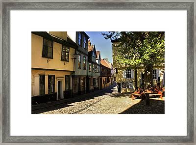 Elm Hill Norwich Framed Print by Darren Burroughs