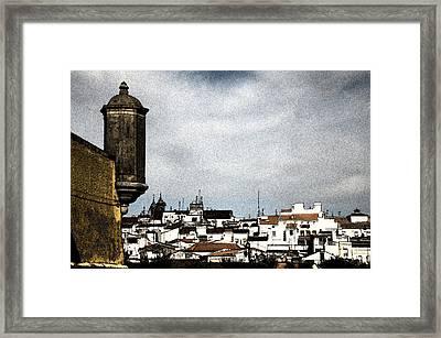 Elvas Castle And Village  Framed Print by Agostinho Goncalves