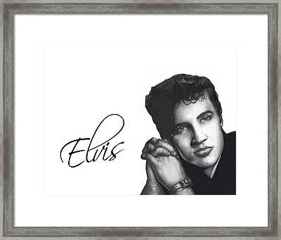 Elvis Framed Print by Lee Appleby