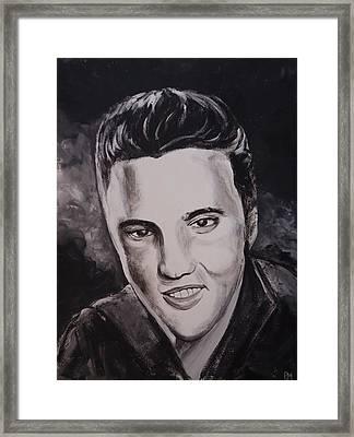 Elvis Framed Print by Pete Maier