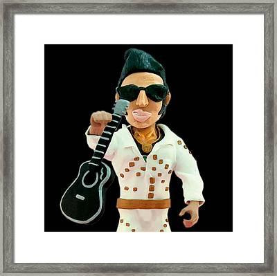 Elvis Presley Framed Print by Louisa Houchen