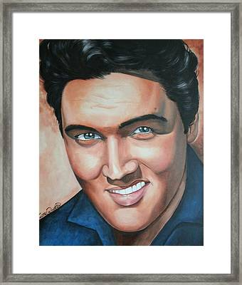 Elvis Presley Framed Print by Timothe Winstead
