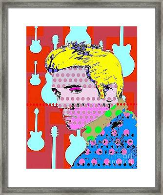 Elvis Framed Print by Ricky Sencion