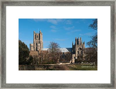 Ely Cathedral In City Of Ely Framed Print by Andrew  Michael