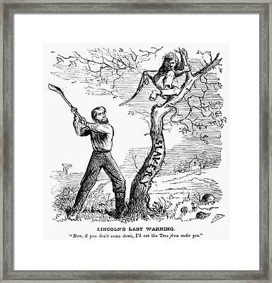 Emancipation Cartoon, 1862 Framed Print by Granger