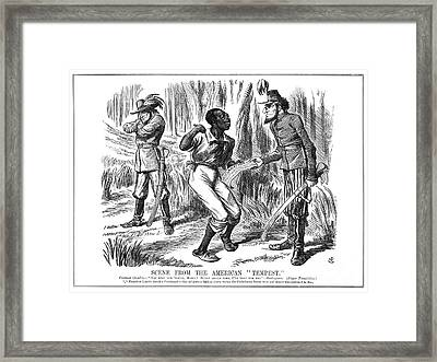 Emancipation Cartoon, 1863 Framed Print by Granger