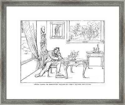 Emancipation Cartoon Framed Print by Granger