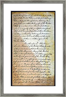 Emancipation Proc., P. 2 Framed Print by Granger