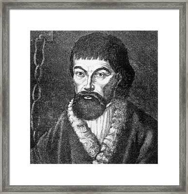 Emelvan Pugachev 1726-1775, Leader Framed Print by Everett