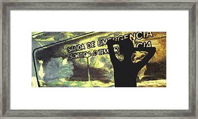 Emergency Exit - Arte Silueta Tren Framed Print by Arte Venezia