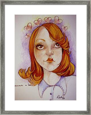 Emma In Love Framed Print by Jackie Rock