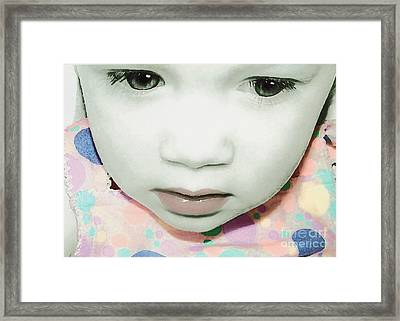 Emo Pop Baby Framed Print by Laura Brightwood