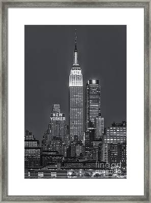 Empire State Building Iv Framed Print by Clarence Holmes