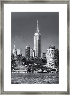 Empire State Building Post Thunderstorm II Framed Print by Clarence Holmes