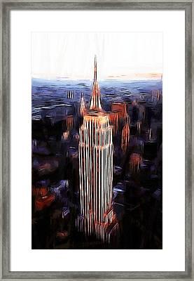 Empire State Building Framed Print by Steve K