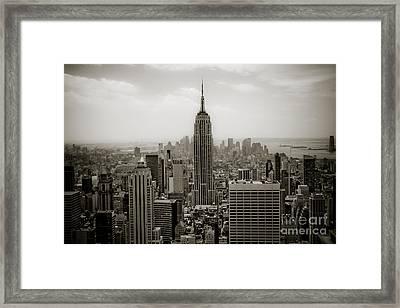 Empire State Framed Print by Ken Marsh