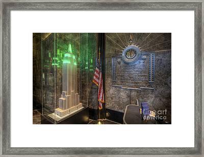 Empire State Model Framed Print by Yhun Suarez