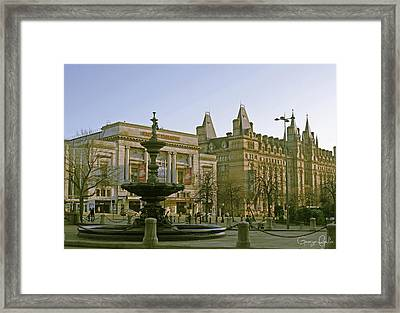 Empire Theater In Liverpool Framed Print by Georgia Fowler