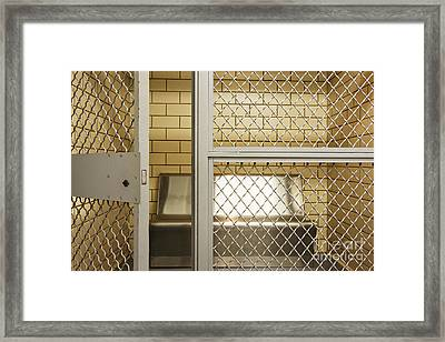 Empty Jail Holding Cell Framed Print by Jeremy Woodhouse