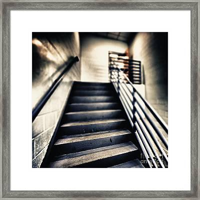 Empty Stairwell Framed Print by Skip Nall