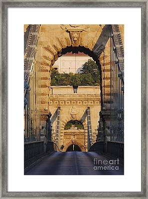 Empty Stone Bridge Framed Print by Jeremy Woodhouse
