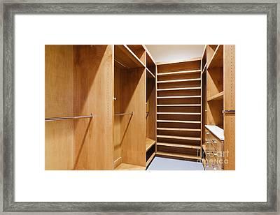 Empty Walk-in Closet Framed Print by Jeremy Woodhouse