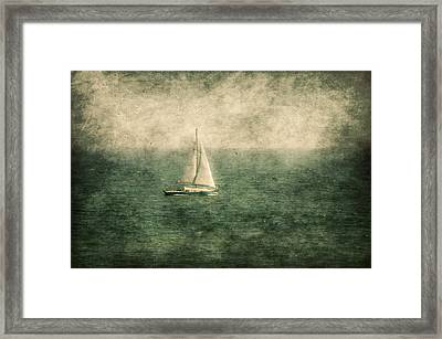 Empty Yacht  Framed Print by Svetlana Sewell