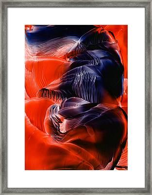 Encaustic 1033 Framed Print by Hakon Soreide