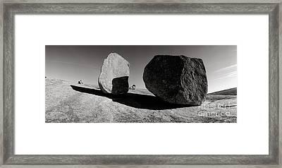 Enchanted Rock Framed Print by David  Rusch