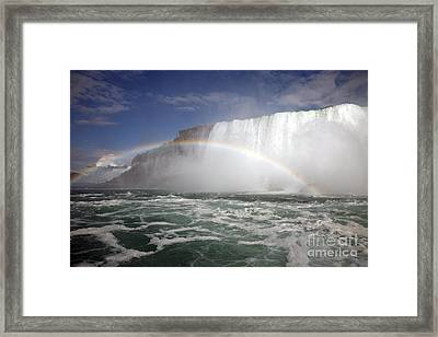 End Of The Rainbow Framed Print by Amanda Barcon
