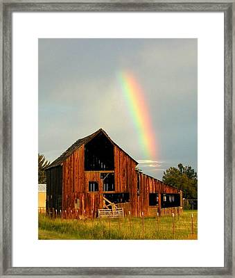 End Of The Rainbow Framed Print by Cindy Wright