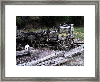 End Of The Trail Oregon Conestoga Wagon  Framed Print by Glenna McRae