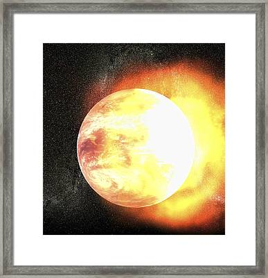 End Of The World, Artwork Framed Print by Christian Darkin