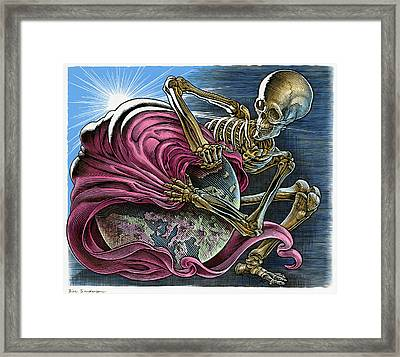 End Of The World, Conceptual Artwork Framed Print by Bill Sanderson