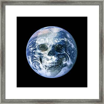 End Of The World, Conceptual Artwork Framed Print by Victor De Schwanberg